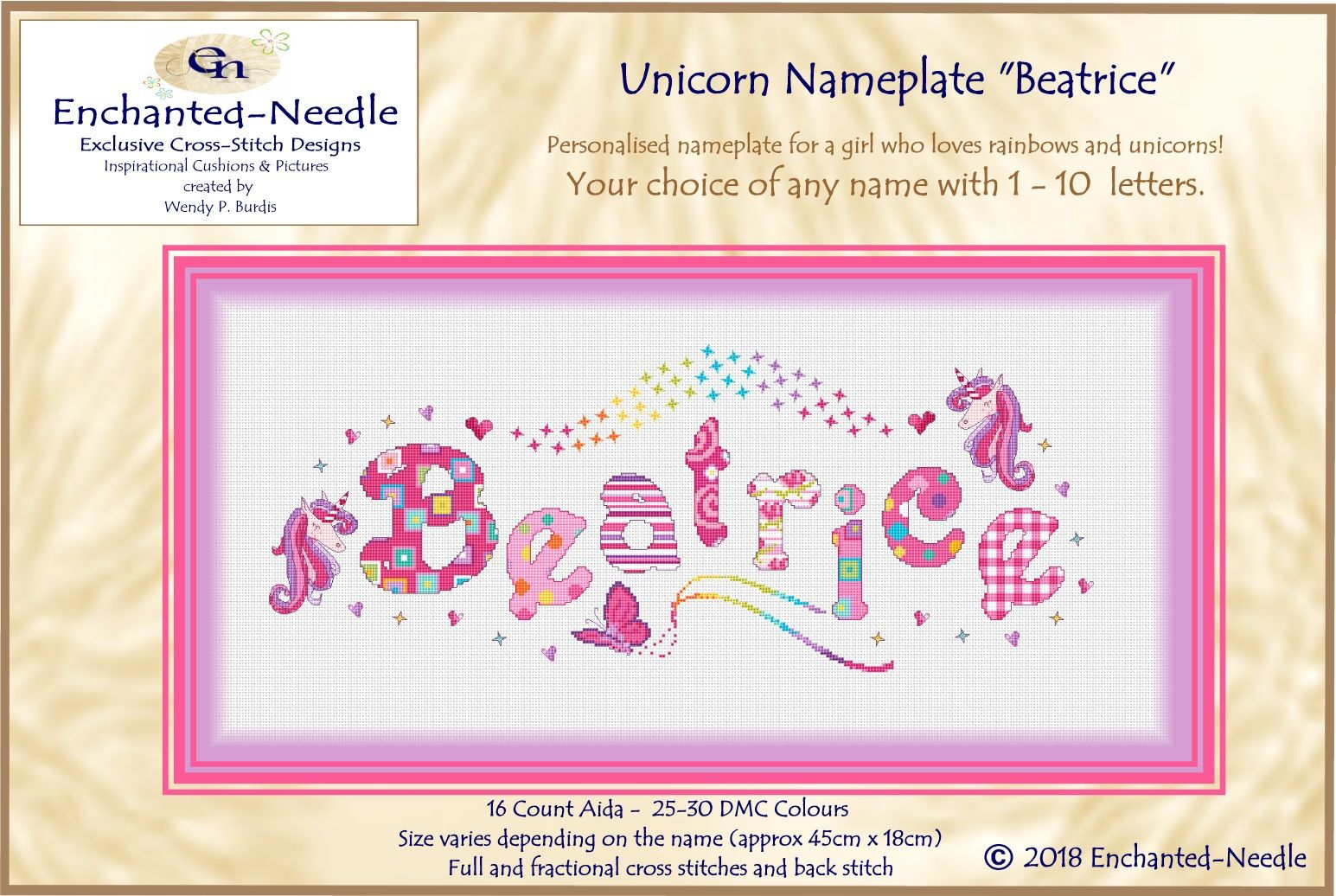 Unicorn Rainbow Nameplate